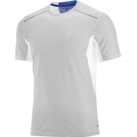 Salomon Trail Runner SS Tee Men white/surf the web